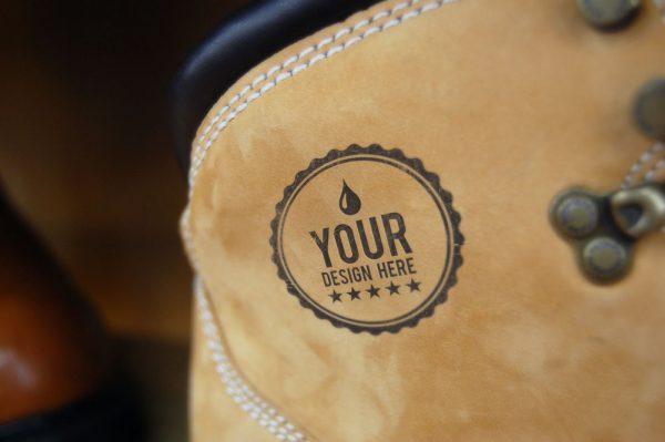 logo样机图案牛仔裤