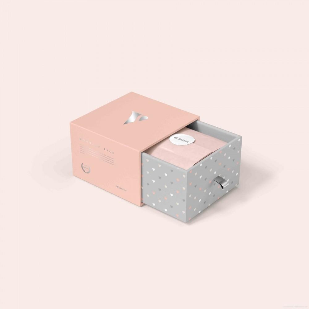 粉色简约长方形抽屉盒子