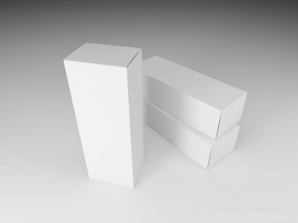 长方形白色盒子样机