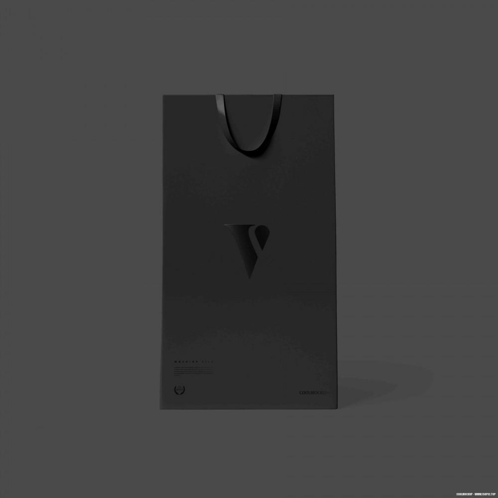 黑色商务风简约纸袋手提袋