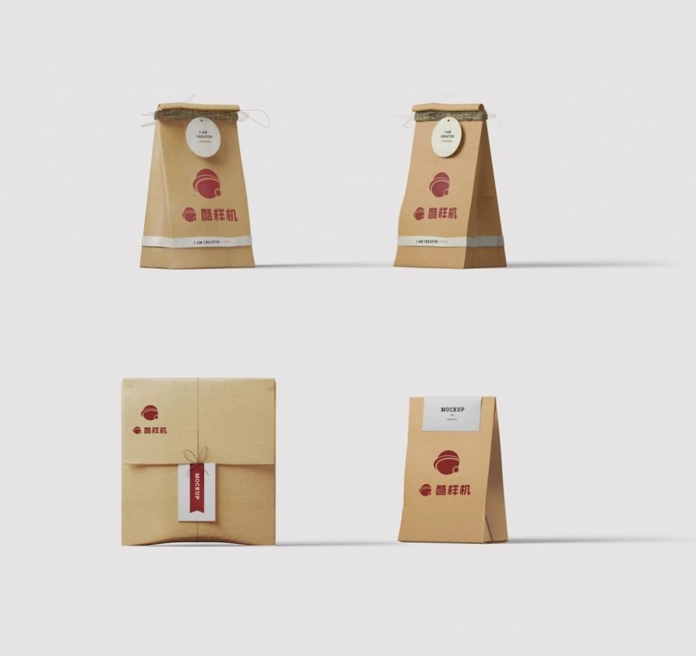 袋子包装袋纸袋样机