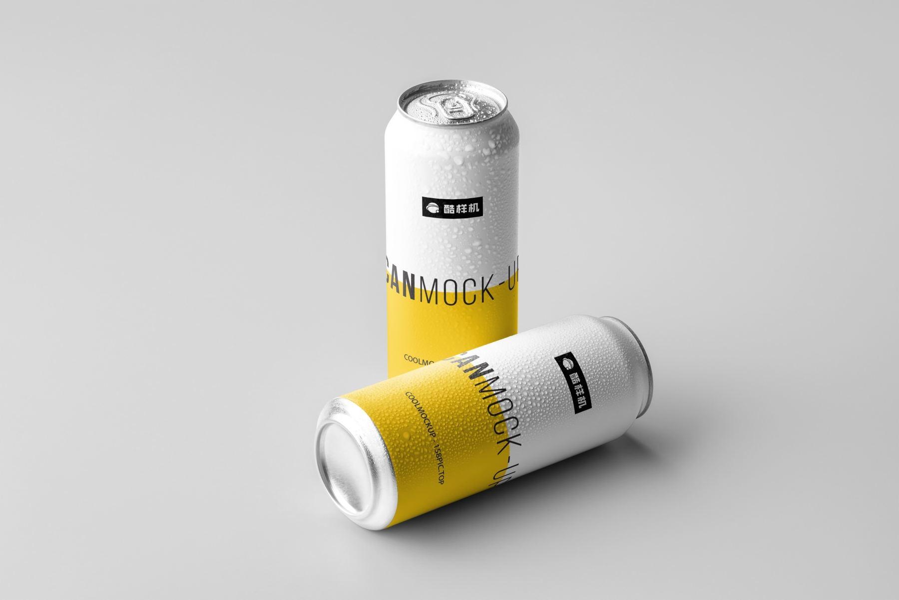 6e3ee5f7b61a847 - 简约饮料啤酒包装易拉罐样机