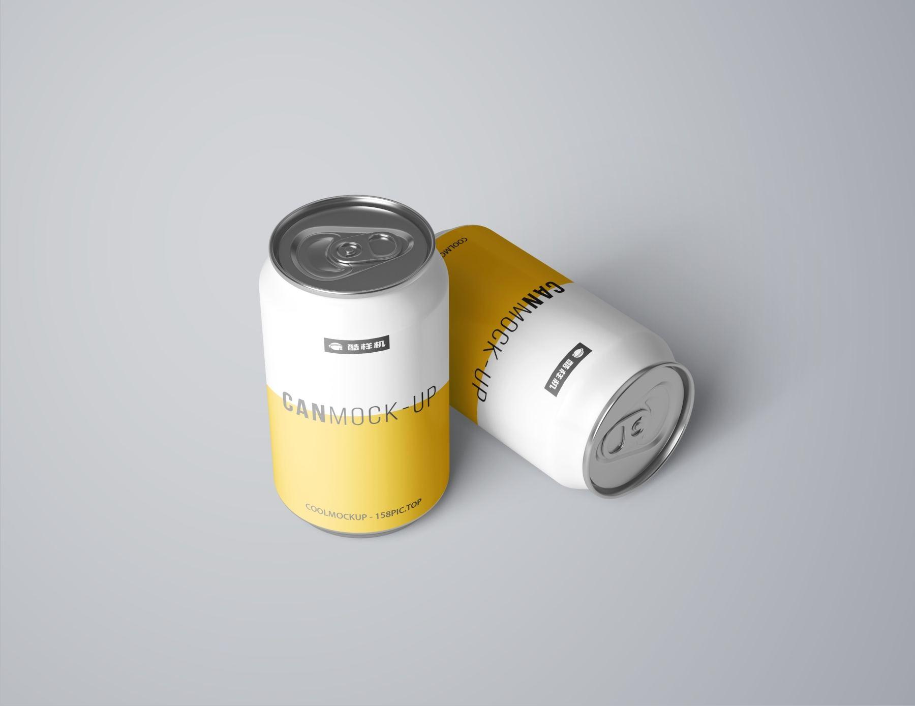726f87c97c64cf0 - 简约饮料啤酒包装易拉罐样机