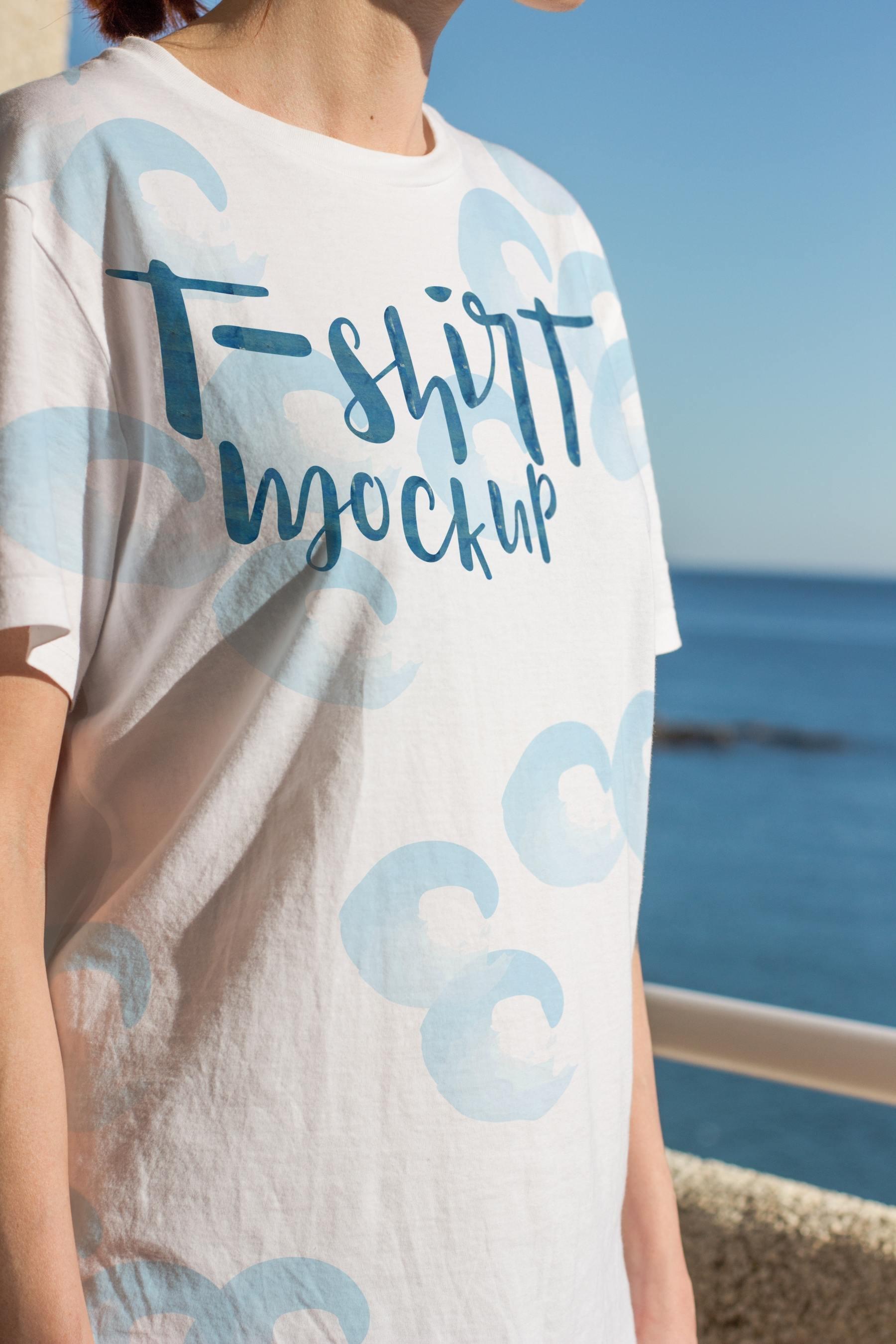 afb118660638e1a - 潮流印花短袖T恤女款模特服饰上装样机