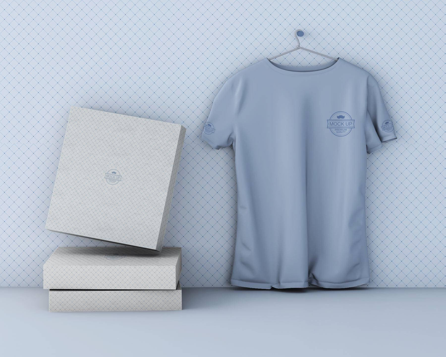 c02fa2d5878450d - 潮流印花短袖T恤衣架悬挂上装样机