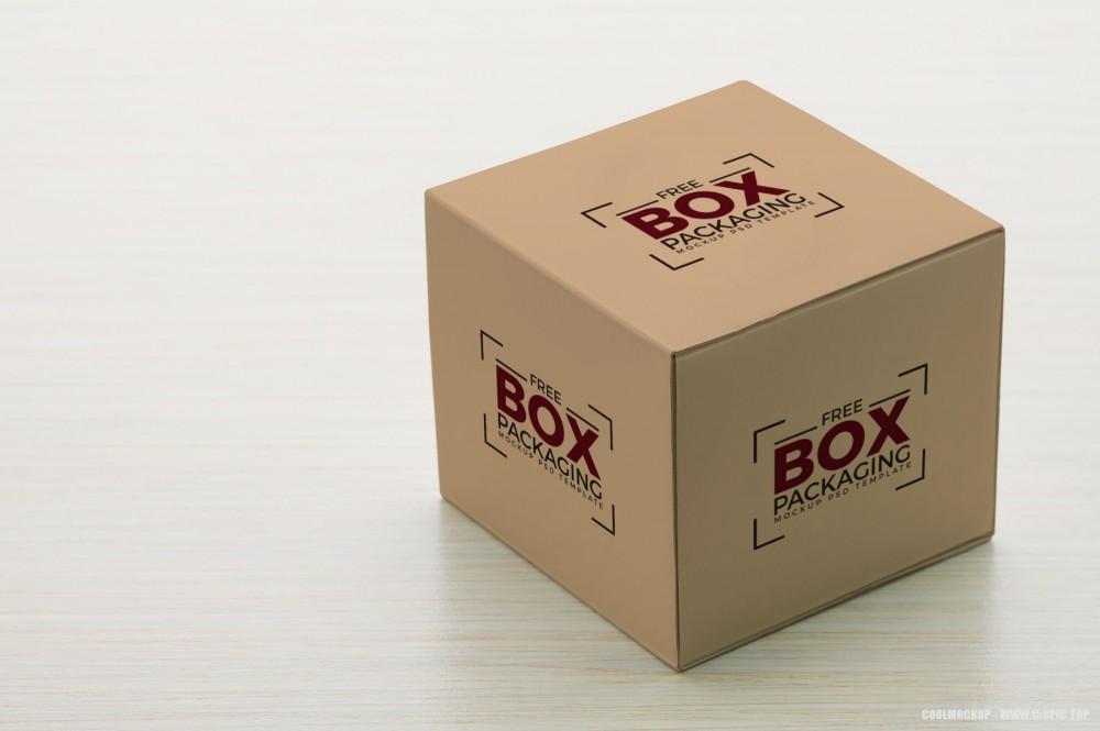 时尚简约包装盒样机