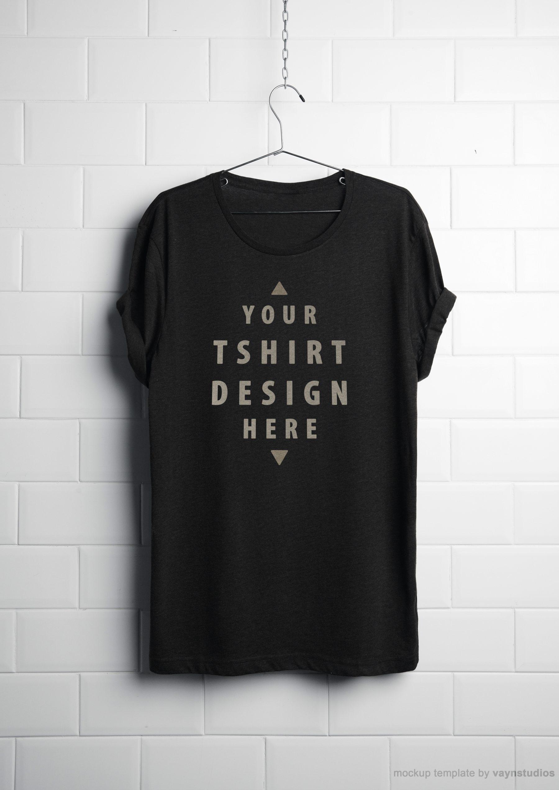 c7da1aaef674462 - 潮流印花短袖T恤衣架悬挂上装样机