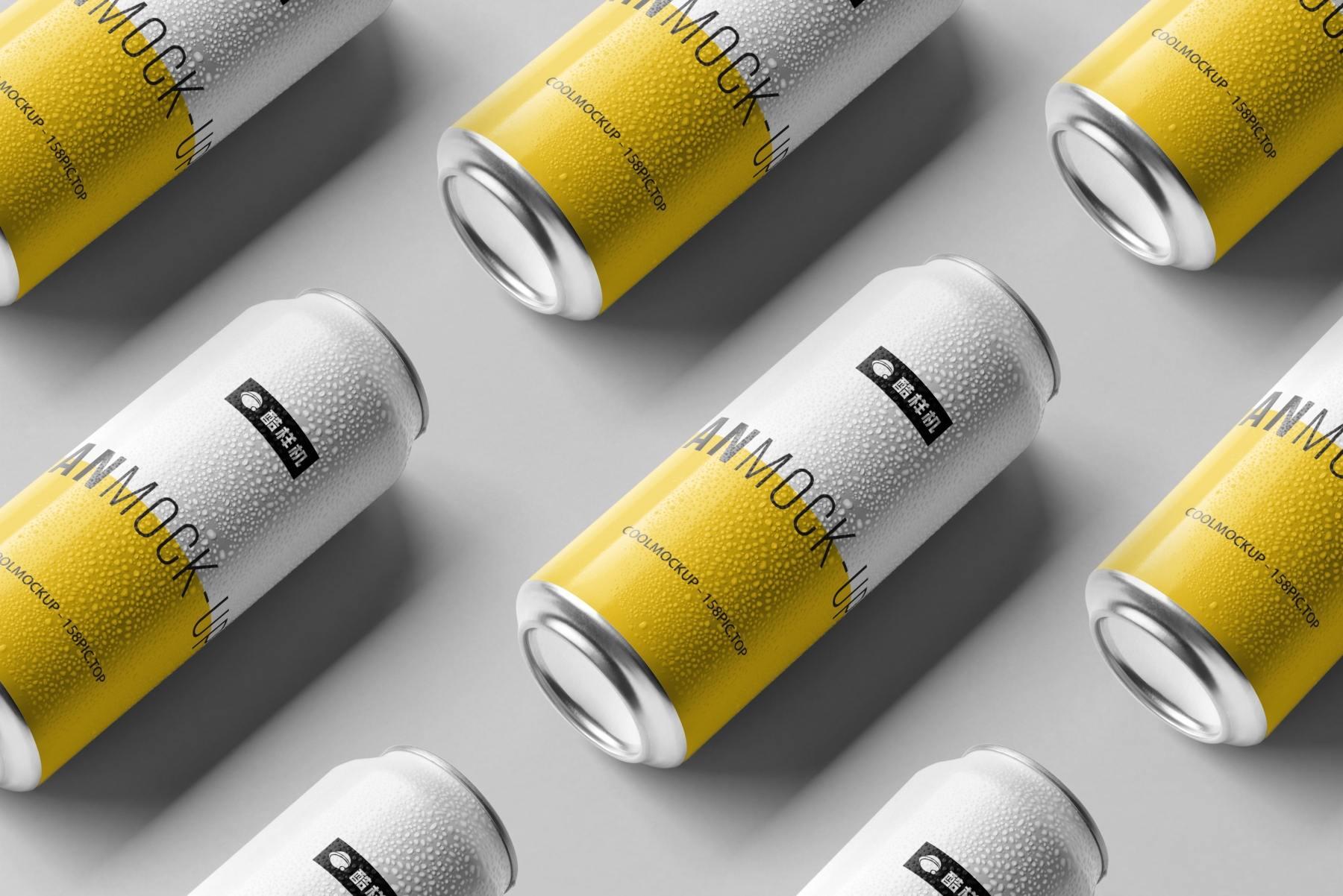 c8107b10d807265 - 简约饮料啤酒包装易拉罐样机