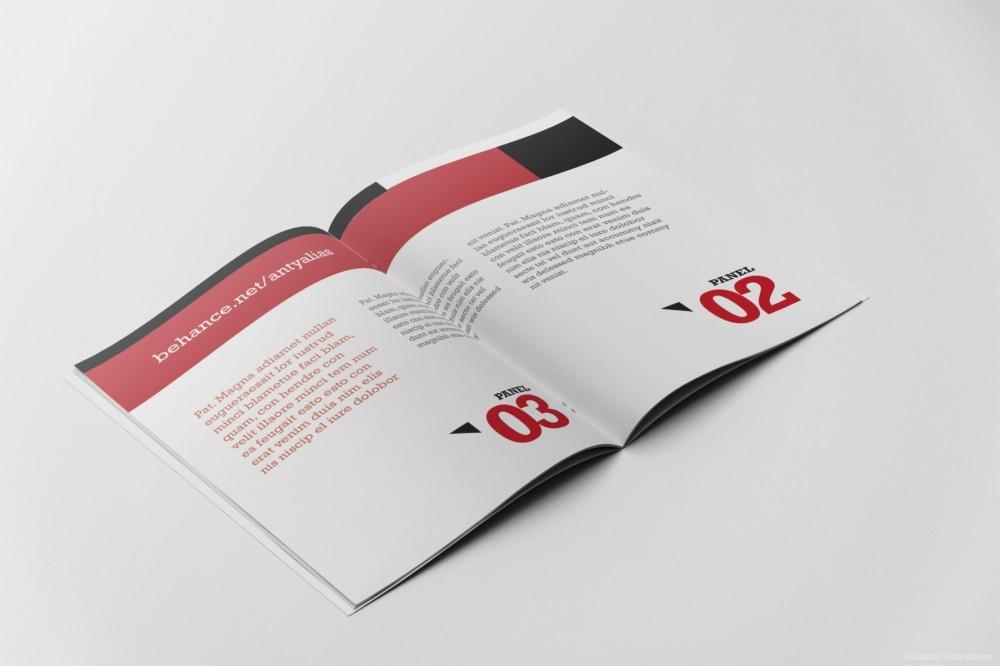 A4大小杂志画册样机