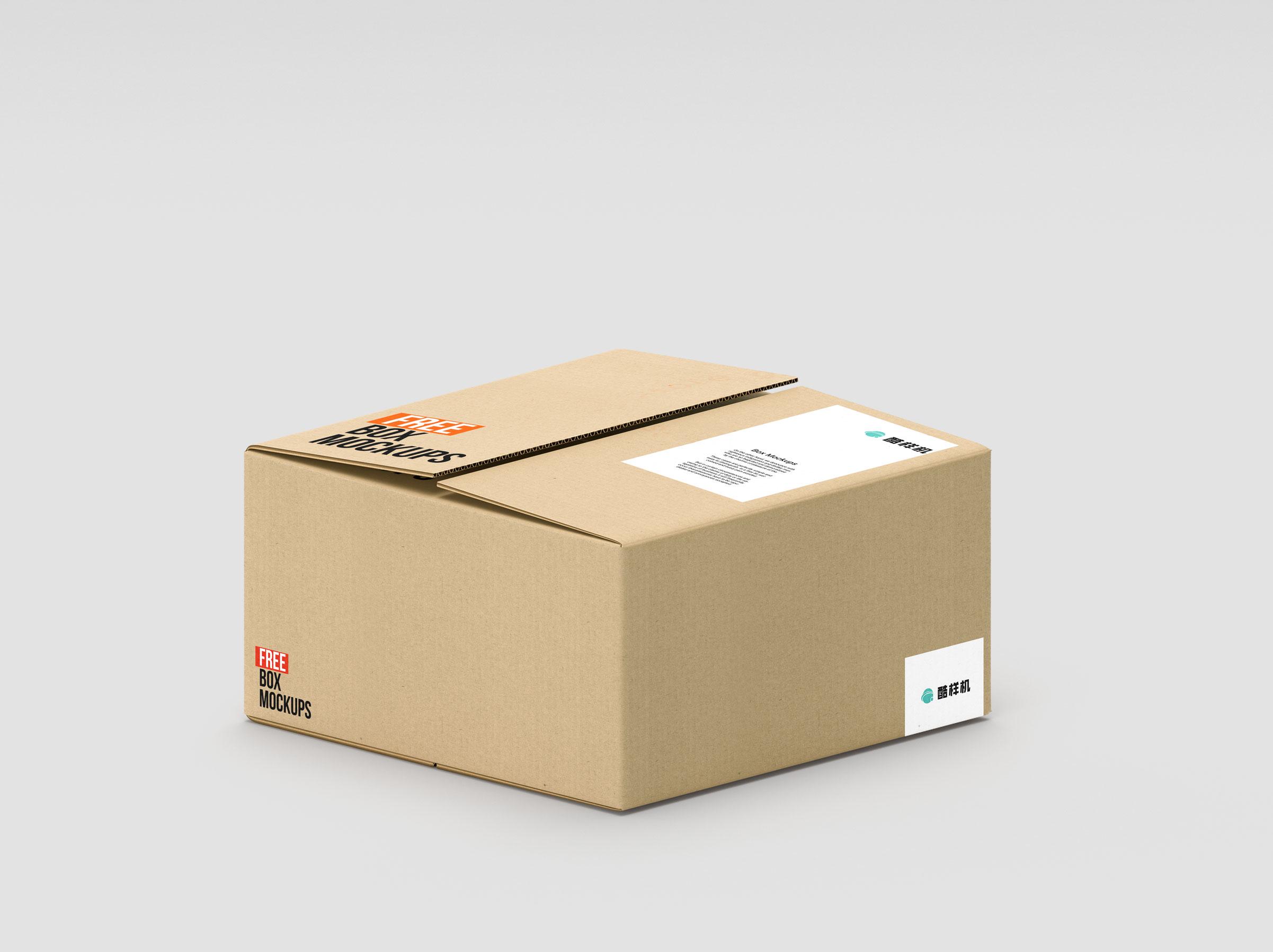 ee5073c64327681 - 简约长方形纸箱样机