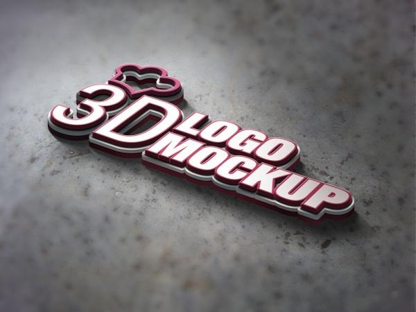 logo样机金属质感
