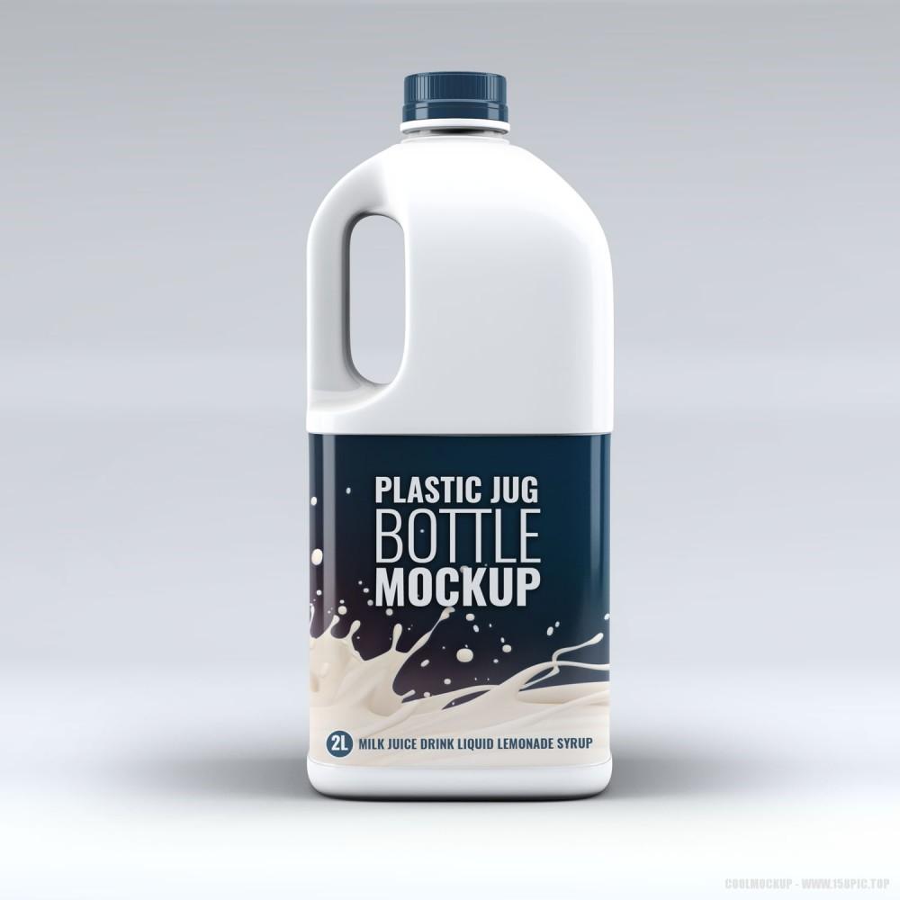 白色牛奶塑料桶样机