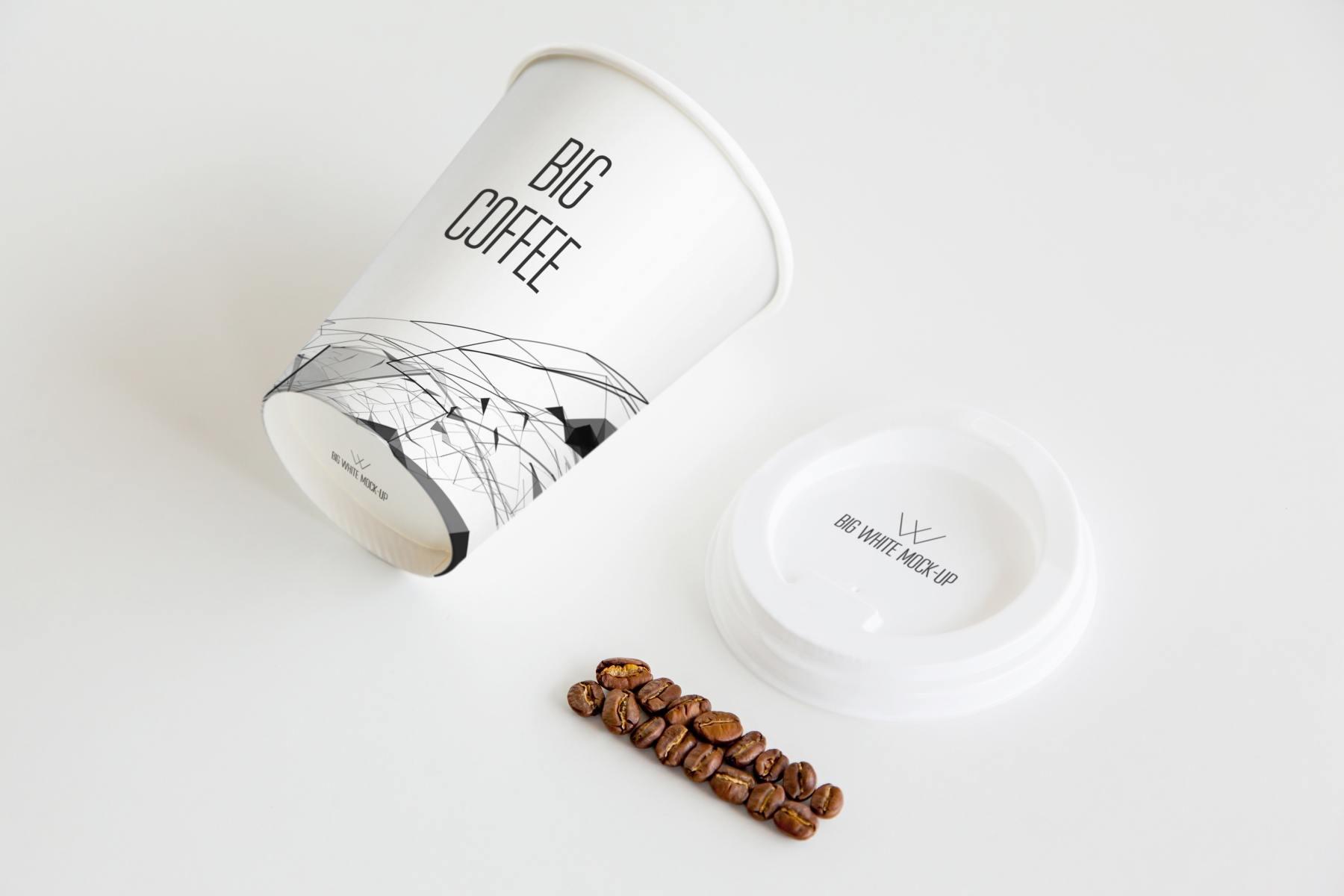 1569718203 bba1842b1b407de - 休闲简约风企业vi样机咖啡杯样机