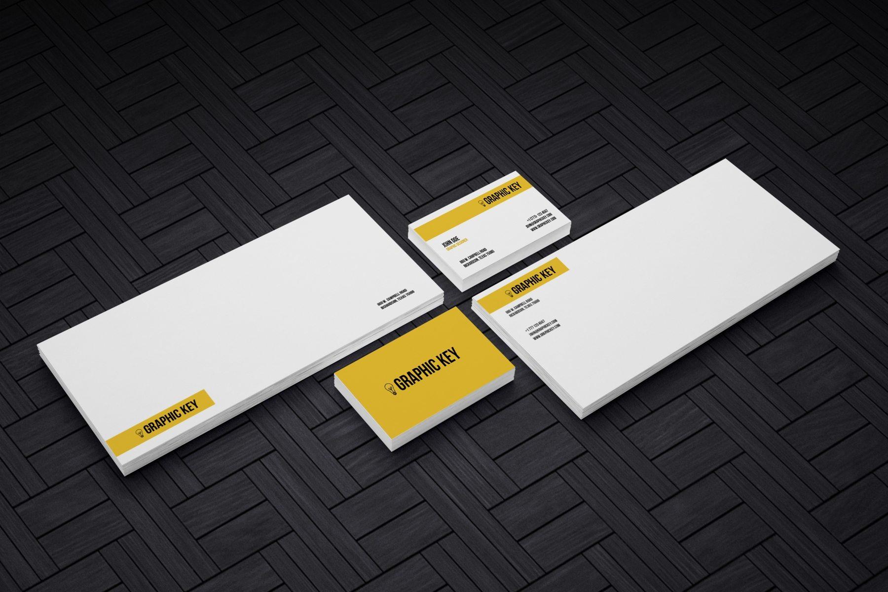 1569743667 5386a49cebc8484 - 黄色系简约纯色办公企业vi样机