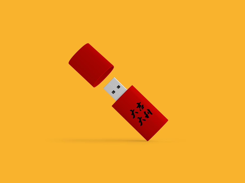 1581863583 8d28ab3023b36fe - 大吉大利新年喜庆物料vi样机U盘样机