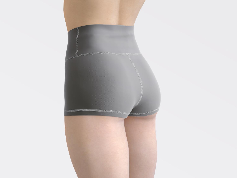 1582520342 1a6991702941491 - 灰色女士紧身裤瑜伽裤样机