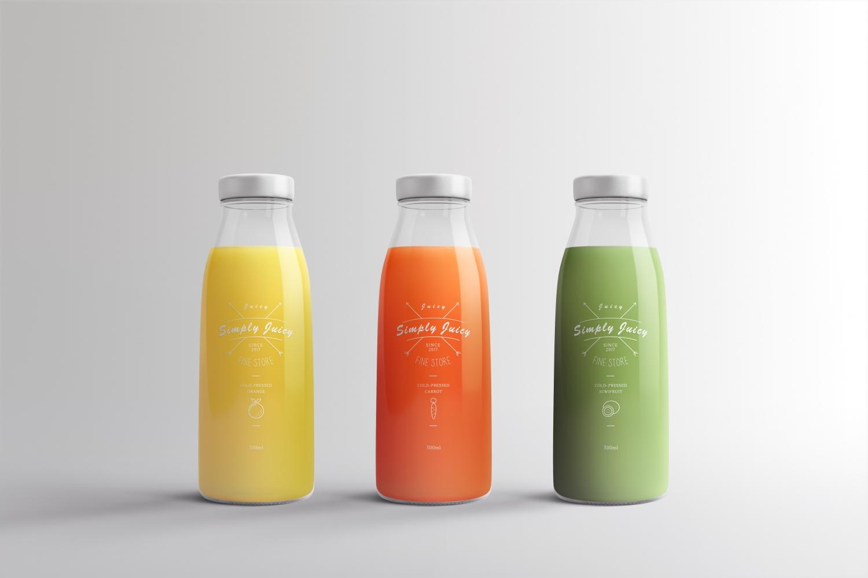 1582629180 6913d7b33efc8af - 简约饮料瓶玻璃瓶样机
